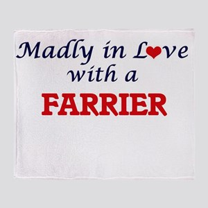 Madly in love with a Farrier Throw Blanket
