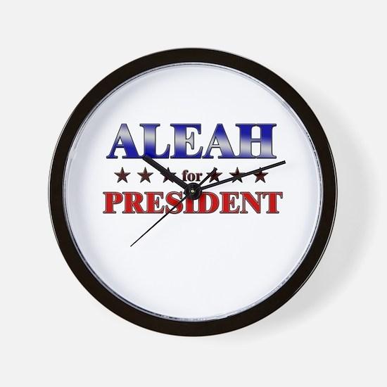 ALEAH for president Wall Clock