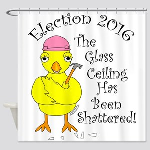 Glass Ceiling Chick Shower Curtain