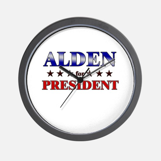 ALDEN for president Wall Clock