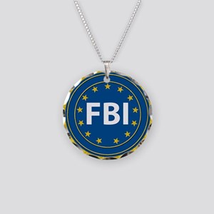 FBI Seal Necklace Circle Charm