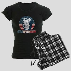 Hillary 2016 - I'm With Her Women's Dark Pajamas