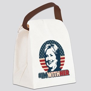 Hillary 2016 - I'm With Her Canvas Lunch Bag