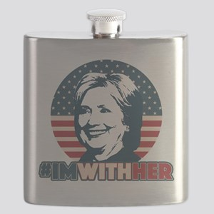 Hillary 2016 - I'm With Her Flask