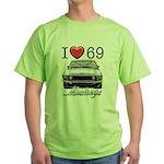 69 Mustang Green T-Shirt