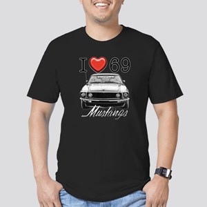 69 Mustang Men's Fitted T-Shirt (dark)