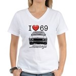 69 Mustang Women's V-Neck T-Shirt