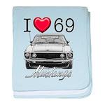 69 Mustang baby blanket