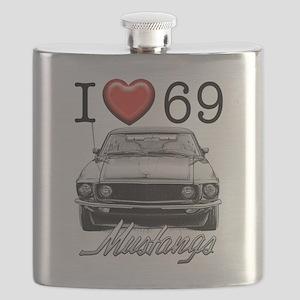 69 Mustang Flask