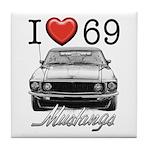 69 Mustang Tile Coaster