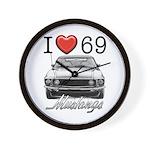 69 Mustang Wall Clock