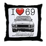 69 Mustang Throw Pillow