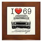 69 Mustang Framed Tile