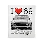 69 Mustang Throw Blanket