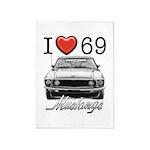 69 Mustang 5'x7'Area Rug
