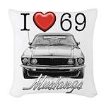 69 Mustang Woven Throw Pillow