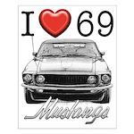 69 Mustang Small Poster
