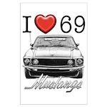 69 Mustang Large Poster