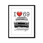 69 Mustang Framed Panel Print