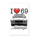 69 Mustang 35x21 Wall Decal