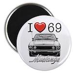 69 Mustang Magnet