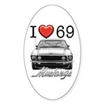 69 Mustang Sticker (Oval)