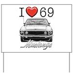 69 Mustang Yard Sign