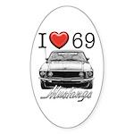 69 Mustang Sticker (Oval 10 pk)