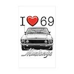 69 Mustang Sticker (Rectangle 50 pk)