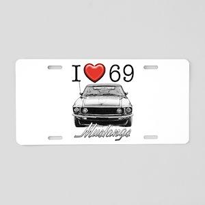 69 Mustang Aluminum License Plate