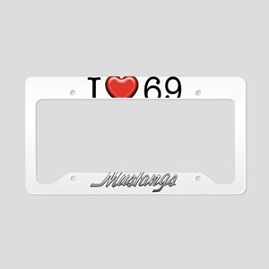 69 Mustang License Plate Holder