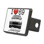 69 Mustang Rectangular Hitch Cover