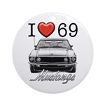 69 Mustang Round Ornament