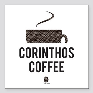 "Corinthos Coffee Square Car Magnet 3"" x 3"""
