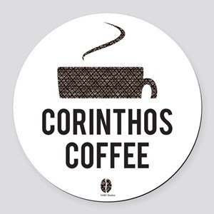 Corinthos Coffee Round Car Magnet