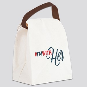Hillary Clinton - I'm With Her Canvas Lunch Bag