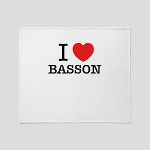 I Love BASSON Throw Blanket