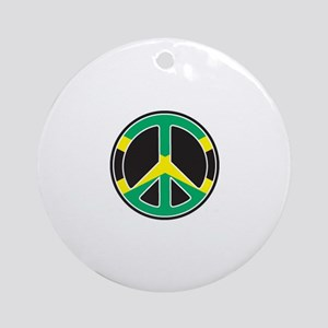 Jamicans for peace Keepsake (Round)