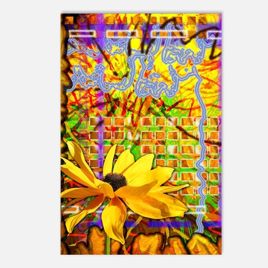 Unique Flower pattern Postcards (Package of 8)