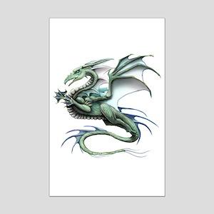Leaping Dragon Mini Poster Print