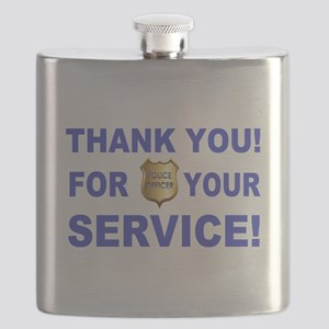 Police Officer Thank You Flask