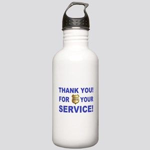 Police Officer Thank Y Stainless Water Bottle 1.0L