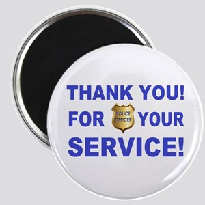 Police Officer Thank You Magnet