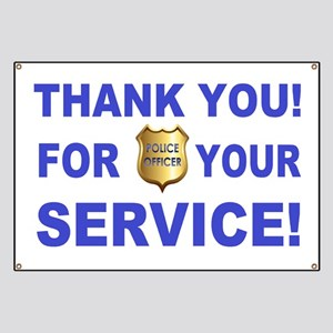 Police Officer Thank You Banner