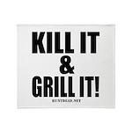 Kill It & Grill It Throw Blanket