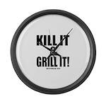 Kill It & Grill It Large Wall Clock