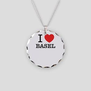 I Love BASEL Necklace Circle Charm