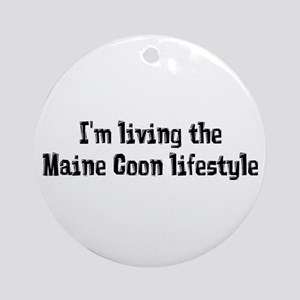The Maine Coon Lifestyle Ornament (Round)
