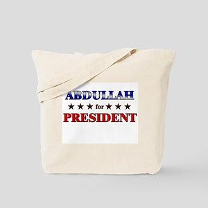 ABDULLAH for president Tote Bag