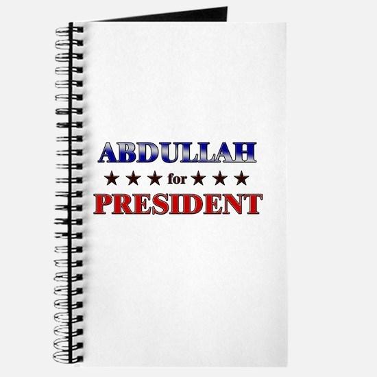 ABDULLAH for president Journal